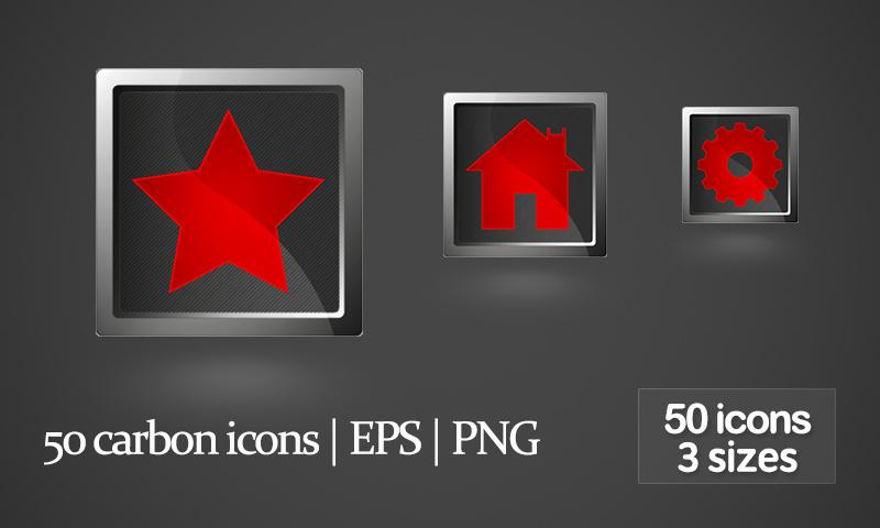 Freebie: 50 Carbon Web Icons