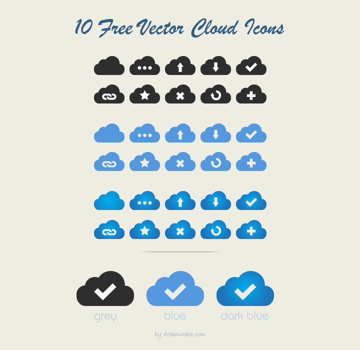 10 cloud icons preview