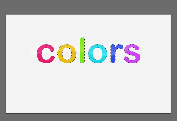 Colorful text step 6a