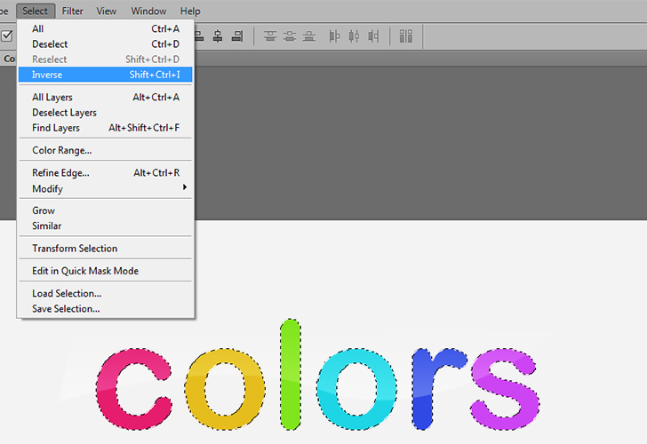 Colorful text step 6b