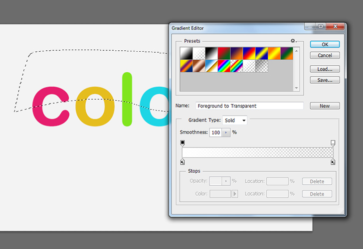 Colorful text step 5b