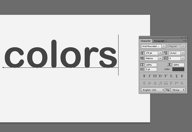 Colorful text step 3