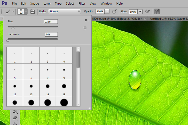 Create water drop in photoshop