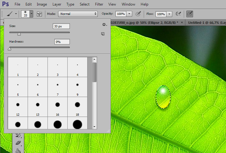 create water drops in photoshop 4a