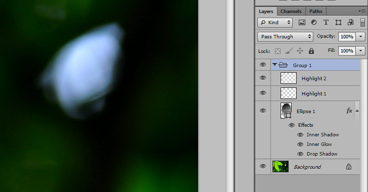 water drop photoshop tutorial group layers