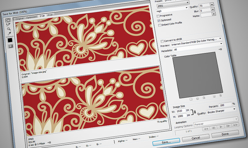 Optimize Images for the Web in Photoshop