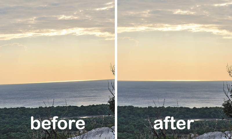 Straighten Horizon in Photoshop