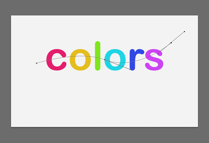 Colorful text effect step 5
