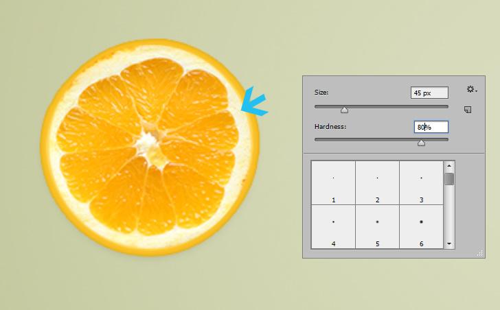 orange text effect step 8b