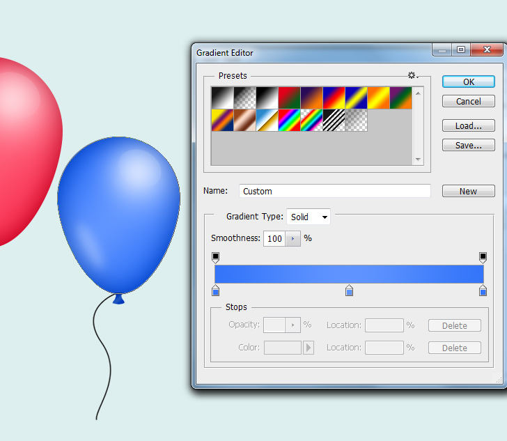 create party balloons in photoshop step 10