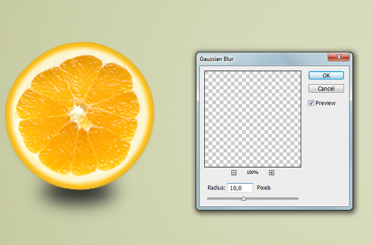 orange text effect step 9b