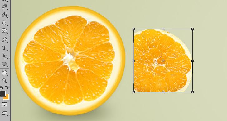 orange text effect step 11a