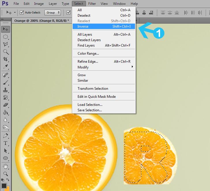 orange text effect step 11b