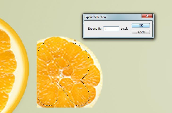 orange text effect step 11c
