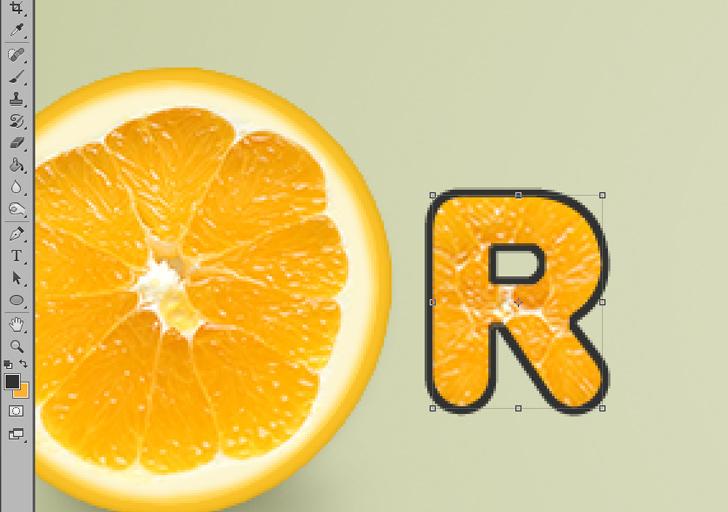 orange text effect photoshop tutorial step 11d