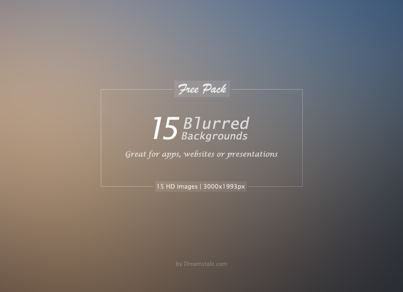 Free Download: 15 HD Blurred Backgrounds