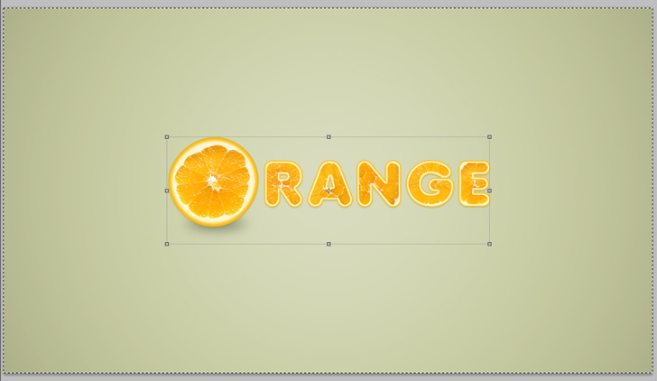 orange text effect photoshop tutorial step 13b