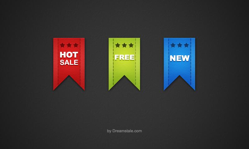 Free Download: Sale Ribbon Icons