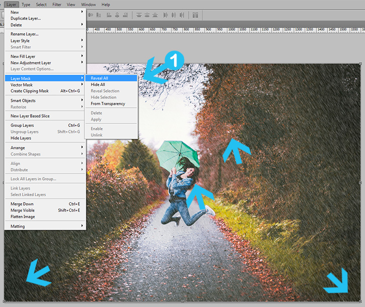rain effect in photoshop step 5a