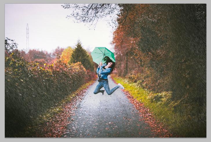rain effect in photoshop step 5b