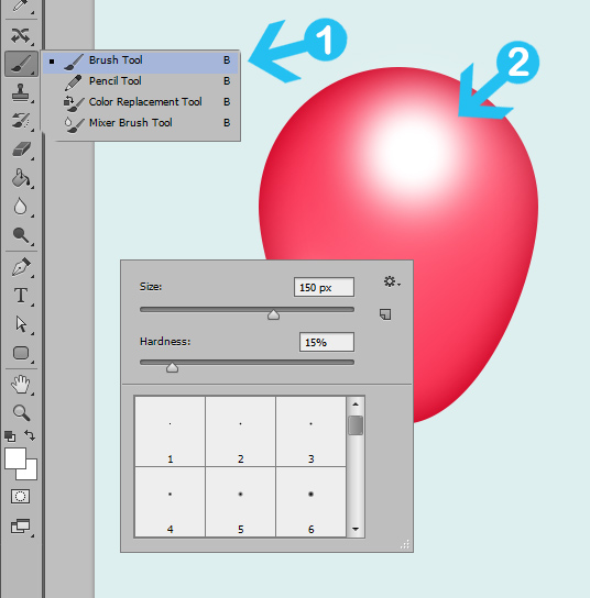 create party balloons in photoshop step 6r