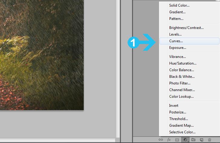 add rain effect in photoshop step 7a