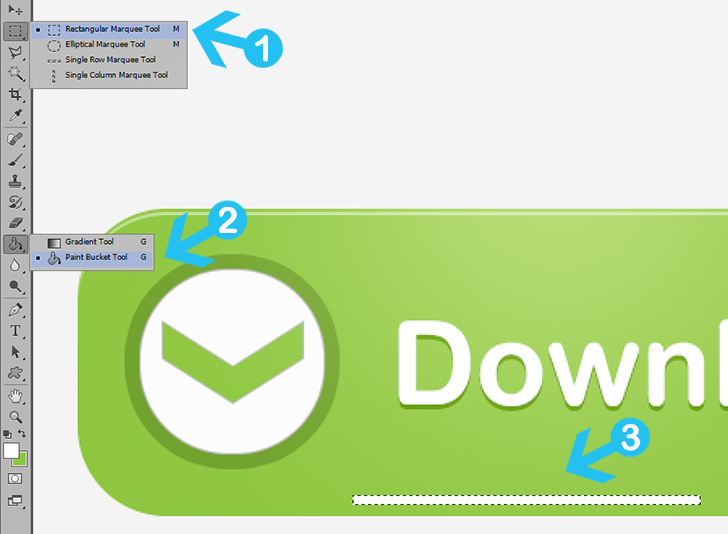 modern web buttons in photoshop step 9a