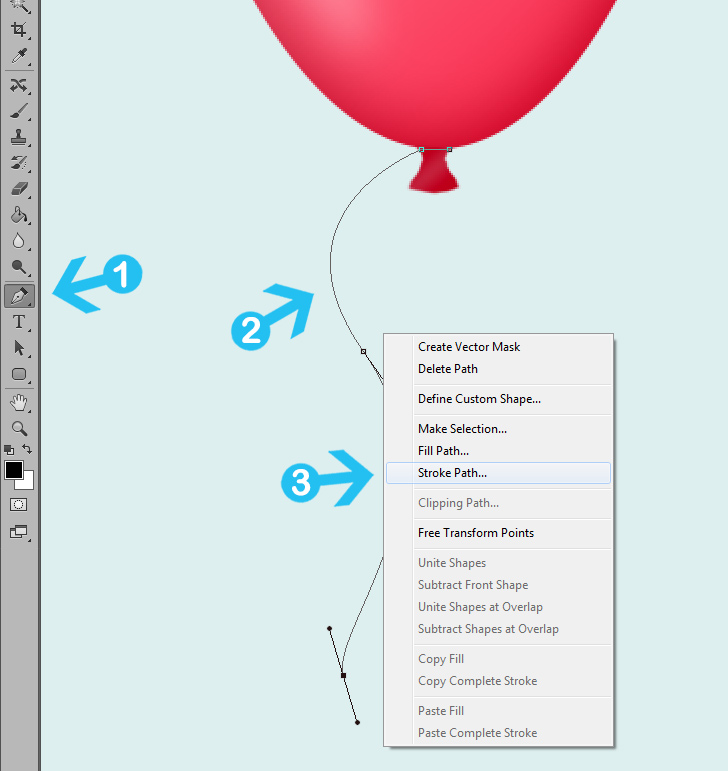 create party balloons in photoshop step 8a