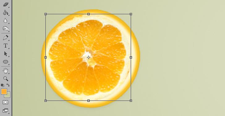 orange text effect step 7b