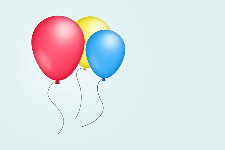 create party balloons in photoshop - PREVIEW