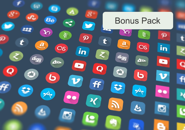 Downalod 40 vector social icons