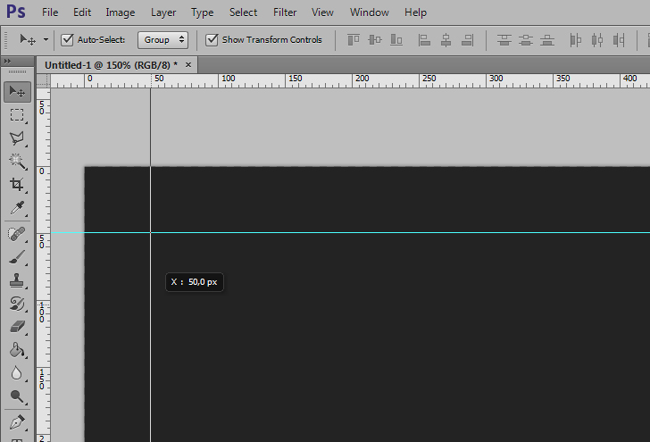create guides in photoshop step 2