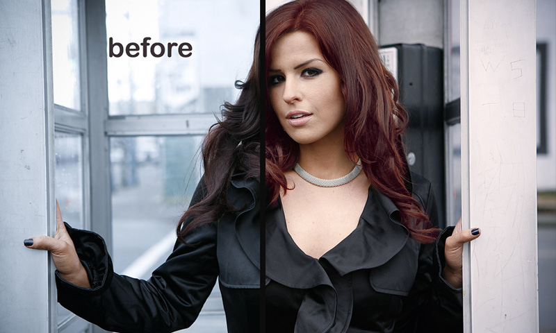 how to change hair color to black in photoshop
