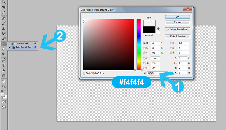 modern web button in photoshop step 2