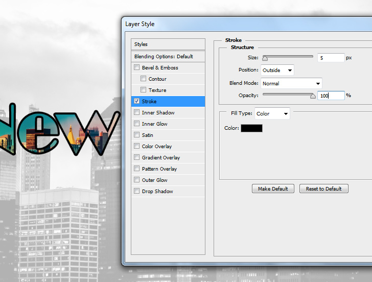 create text to image in photoshop step 5