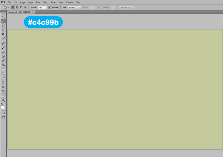 orange text effect in photoshop step 2