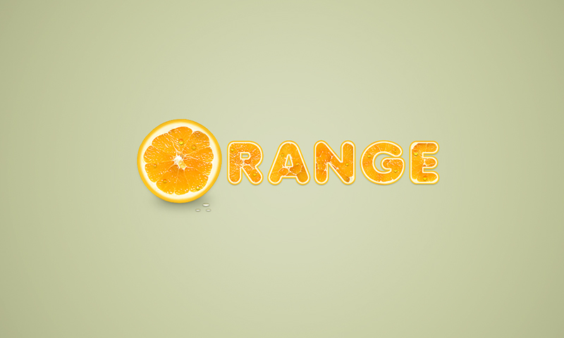 Tutorial: Orange Fruit Text Effect in Photoshop