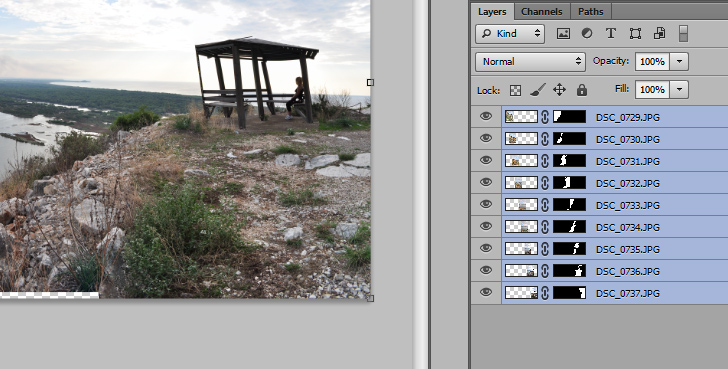create panoramas in photoshop step 2