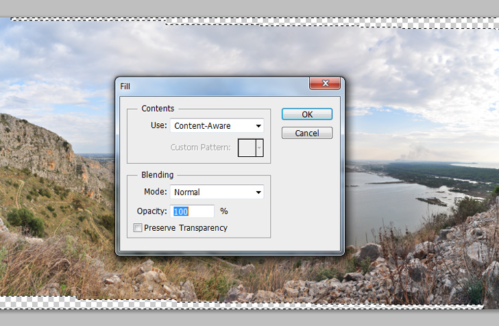 create panoramic photos with photoshop step 4