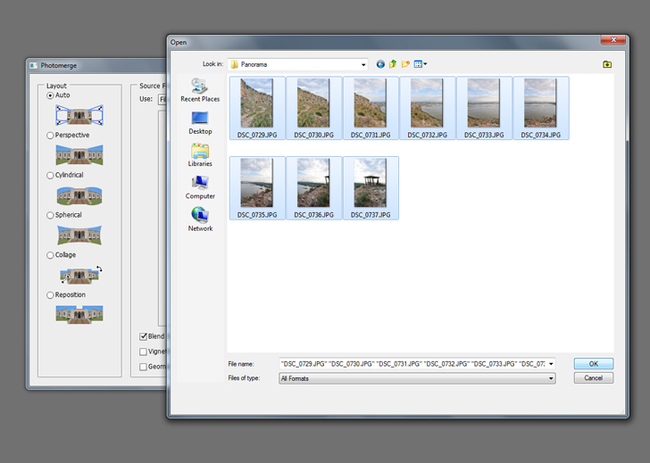 create panoramic photos in photoshop step 1b