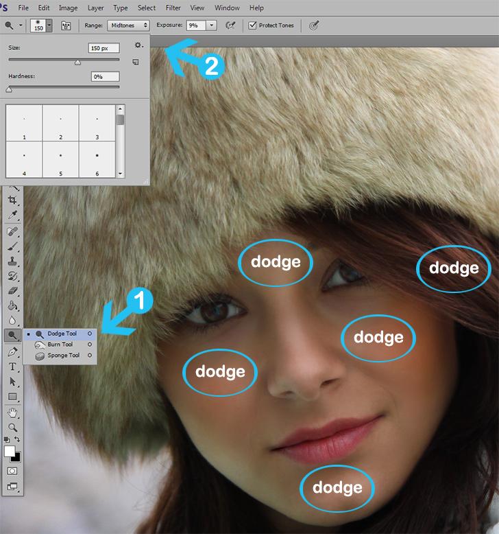 photo retouching step 6