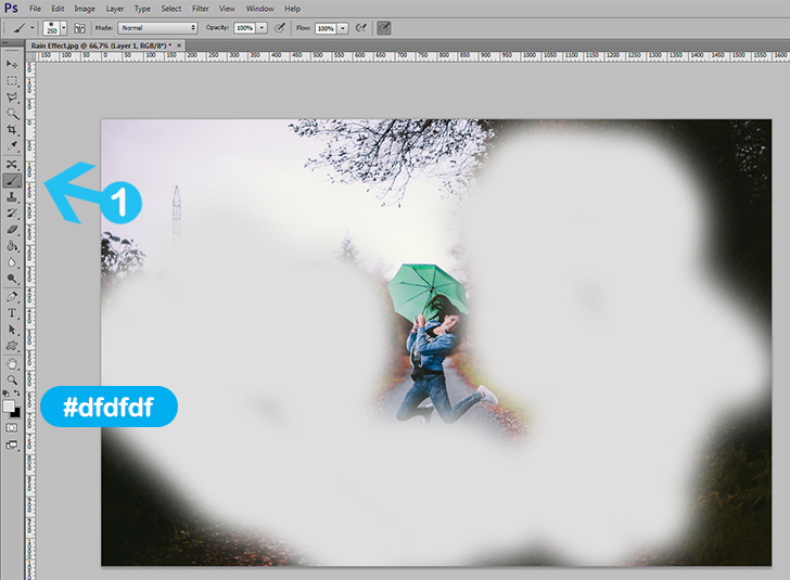 rain drop effect in photoshop step 2