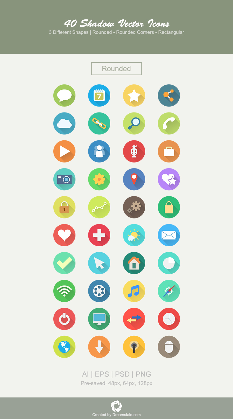 download 40 premium vector icons in 3 shapes - rounded