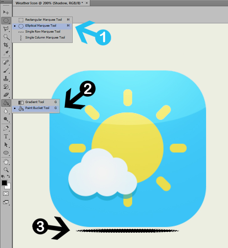 create weather icon in photoshop step 10a