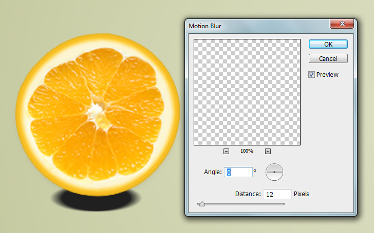 orange text effect step 9a