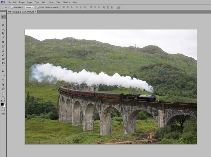 tilit-shift miniature effect in photoshop step 1