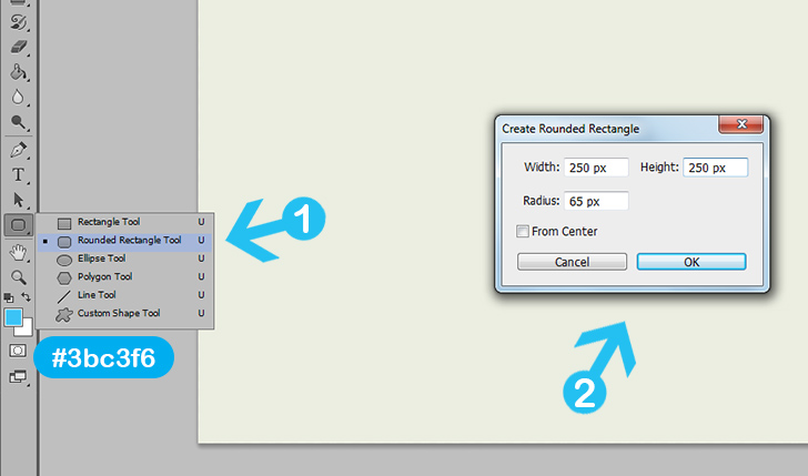 create weather icon in photoshop step 3a