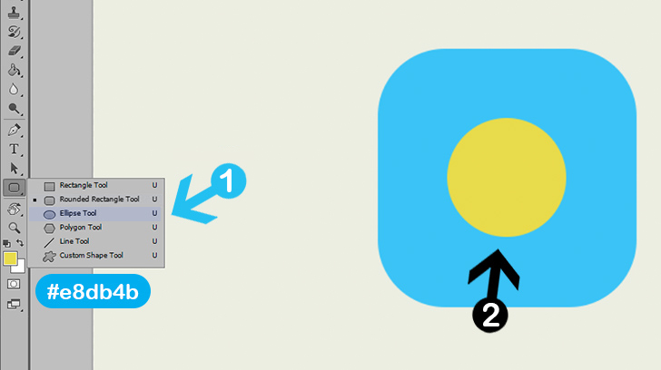 create weather icon photoshop tutorial step 4a