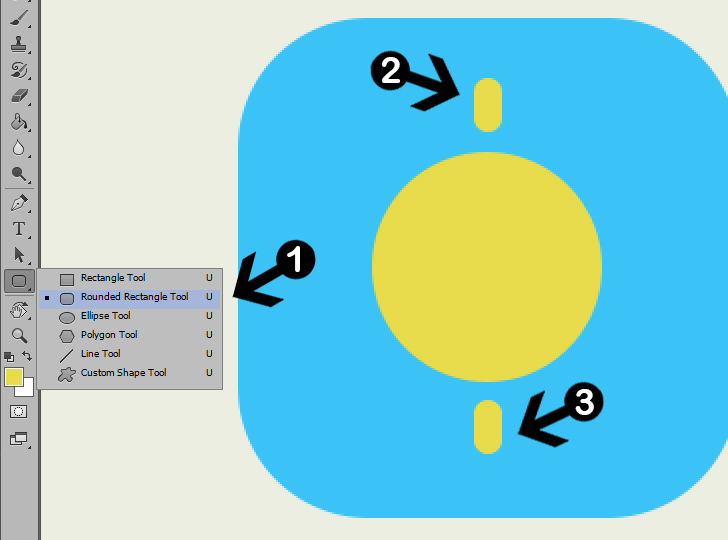 create weather icon in photoshop step 4a
