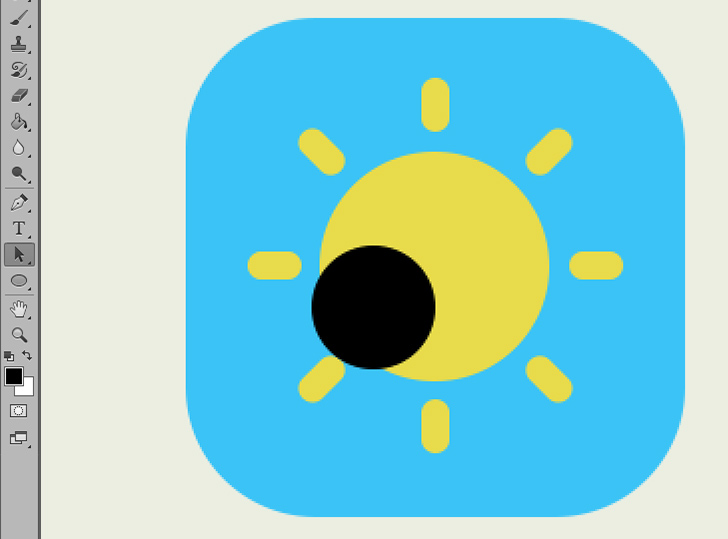 create weather icon in photoshop step 5a